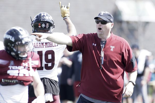 Temple football team, nearly a week from opening day, still not sure of starting quarterback