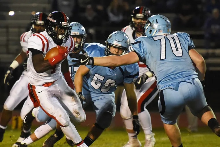Coatesville junior running back Aaron Young was selected as the Ches-Mont League National Division football player of the year.