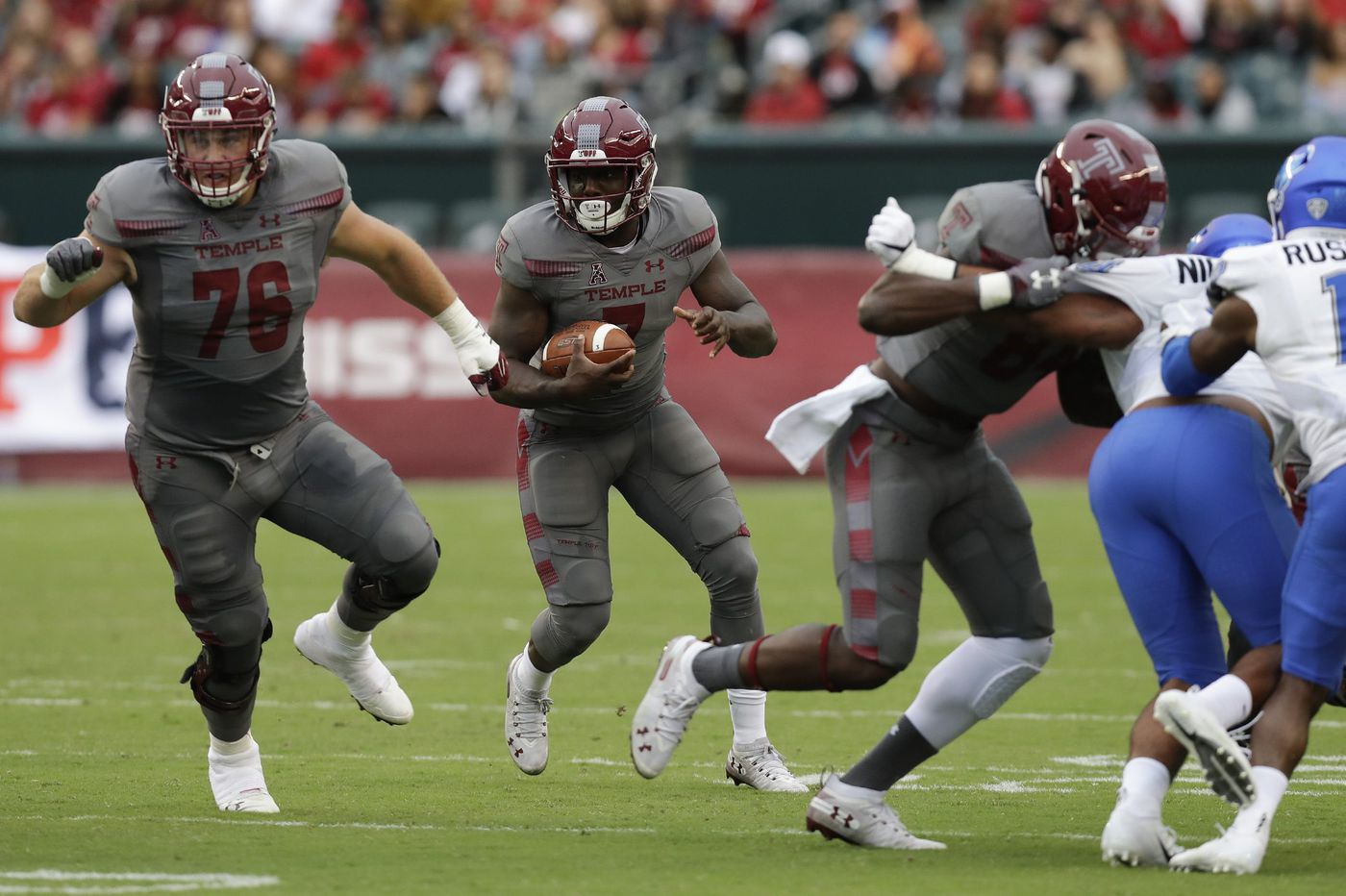 Temple has a new left tackle who is fresh out of two weeks of quarantine