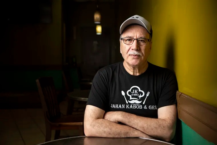 Owner Abdul Qayum posed for a portrait at his restaurant Jahan Kabob & Grill in Morrisville, Pa. Qayum came to the United States at 21 years old, but still has extended family in Afghanistan, including his sister's family in Kabul.