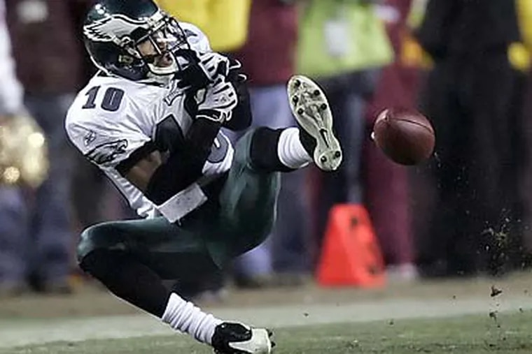 DeSean Jackson accounted for four of the Eagles' dropped passes against the Redskins. (Michael Perez/Staff Photographer )