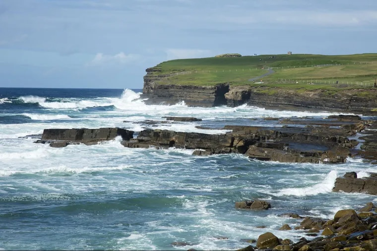 The coastline of Downpatrick Head, in County Mayo, Ireland, where the writer's parents wanted their ashes scattered together.