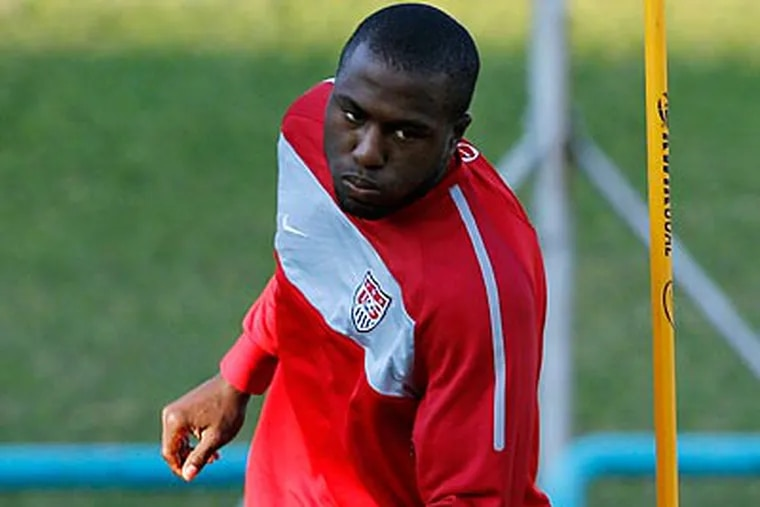 Star forward Jozy Altidore will lead the United States' attack at the World Cup. (Elise Amendola/AP)