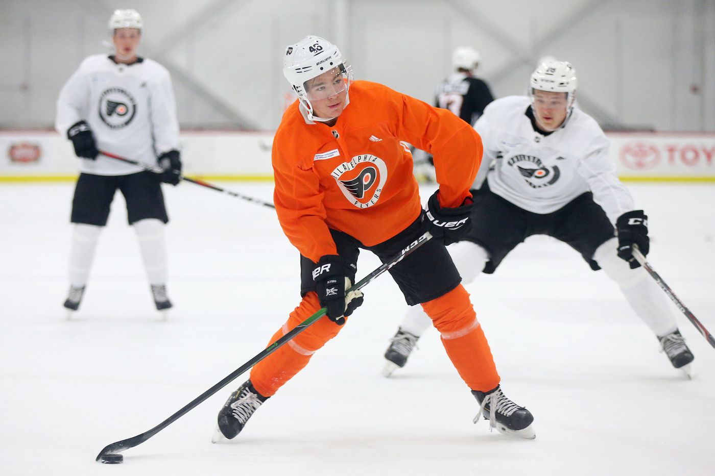 Flyers' draft pick Bobby Brink shows promise at development camp