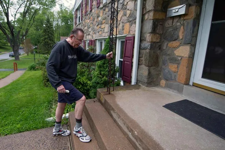 """Retired columnist Bill Lyon, outside his Broomall home, walks five to six days a week, 30 to 40 minutes at a time. """"Then there's mental exercise. Engage the brain, which is, by the way, said to be the biggest sex organ in your body. Make of that what you will."""""""