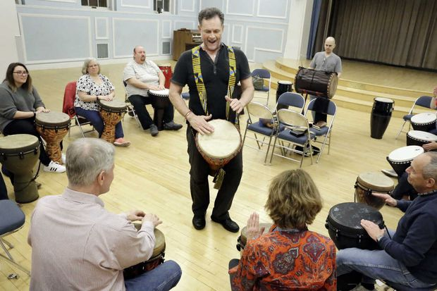Queen Village drum circle draws neighbors in