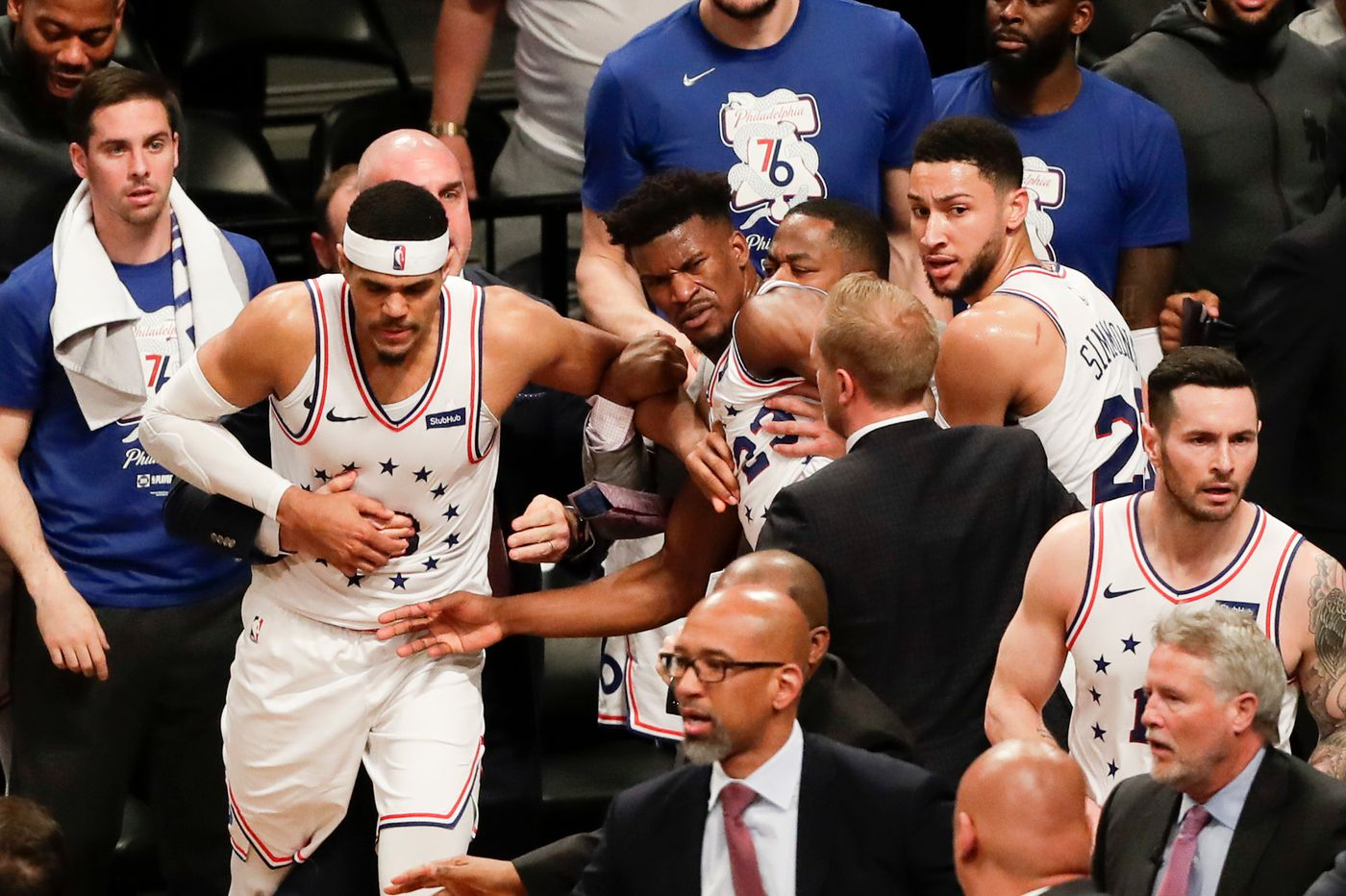7840815fd84c Jimmy Butler had Joel Embiid s back in Sixers-Nets fight in NBA playoffs
