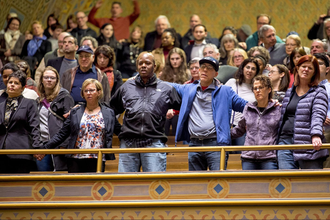 Interfaith crowd packs a Philadelphia temple to show solidarity with Pittsburgh