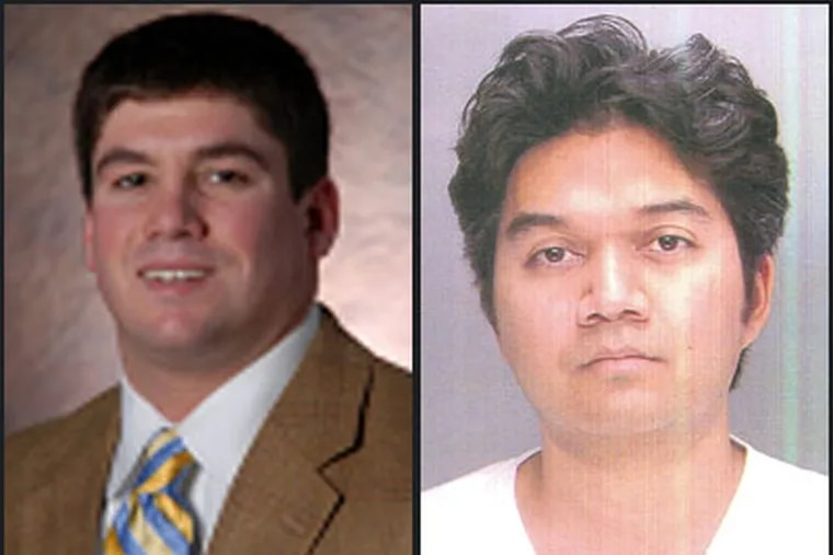 Police say that Gerald Ung, right, a Temple law student, shot Edward DiDonato Jr., left, six times.