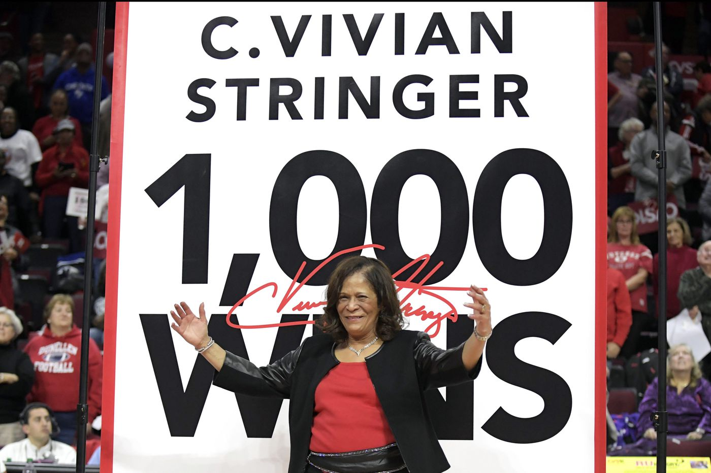 For Rutgers coach Vivian Stringer, 1,000th win comes with confetti, pomp, and nerves