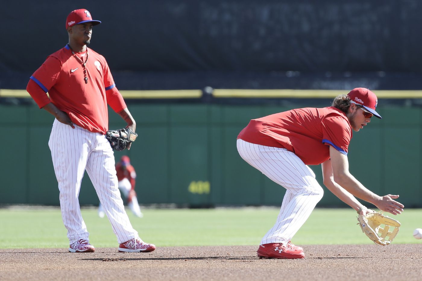Phillies' Jean Segura gets trial by fire in first game at third base