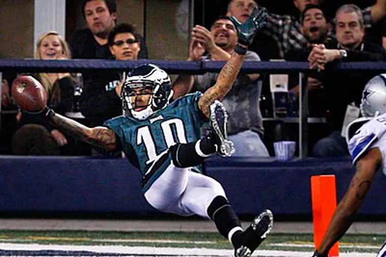 DeSean Jackson caught four passes for a career-high 210 yards and a touchdown in last night's win. (Ron Cortes/Staff Photographer)
