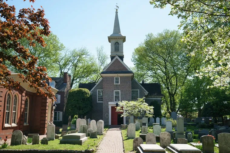 Gloria Dei (Old Swedes') Church located at 916 South Swanson St, in Philadelphia.