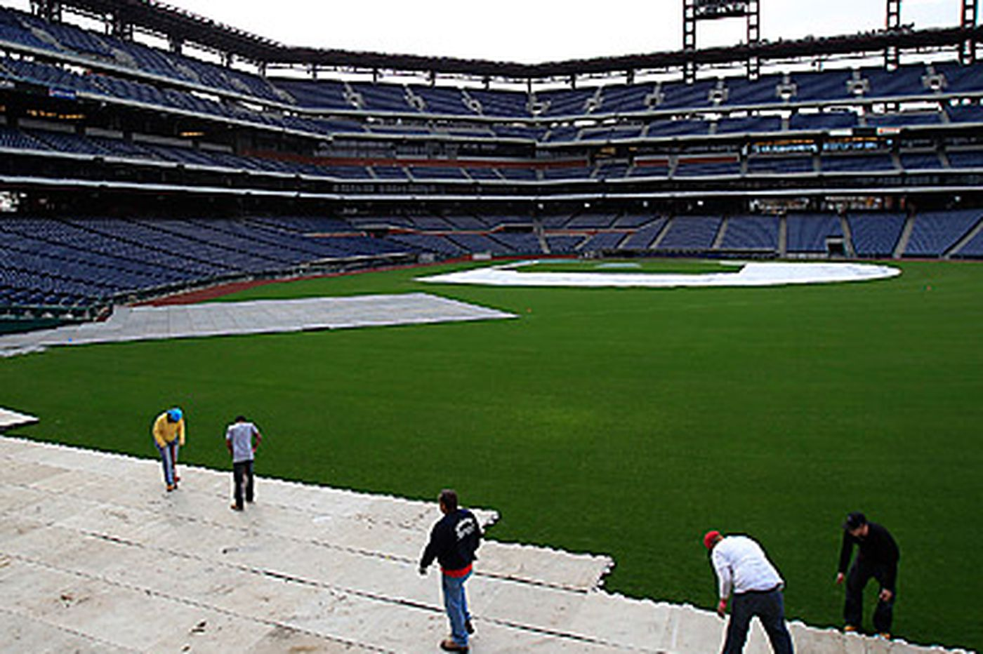 Flyers & Rangers going skating in Citizens Bank Park