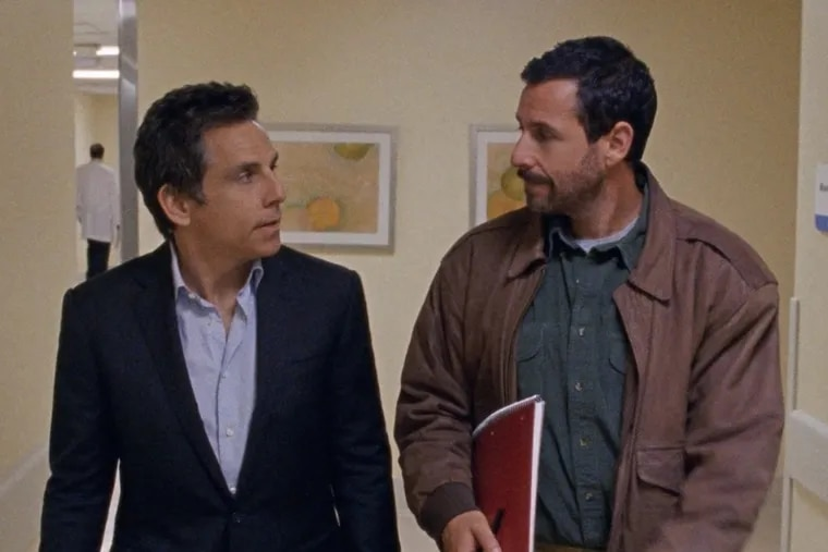 "Ben Stiller and Adam Sandler in ""The Meyerowitz Stories (New and Selected)."""
