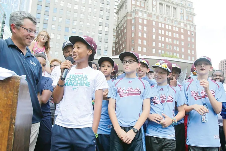 Mayor Nutter and city leaders scheduled to welcome Taney Little League team at noon Sunday at LOVE Park.