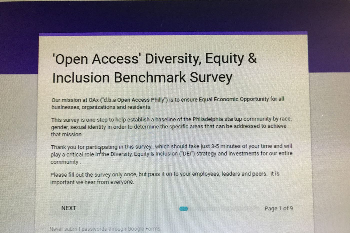 Philadelphia's start-up community launches data survey to address its diversity shortcomings