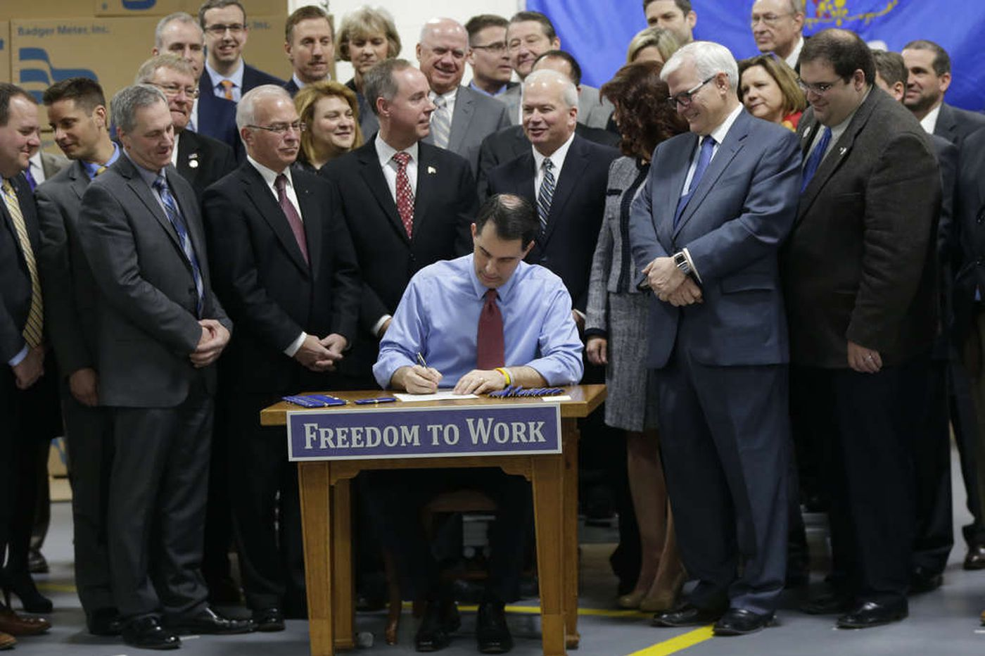 Wisconsin becomes right-to-work state