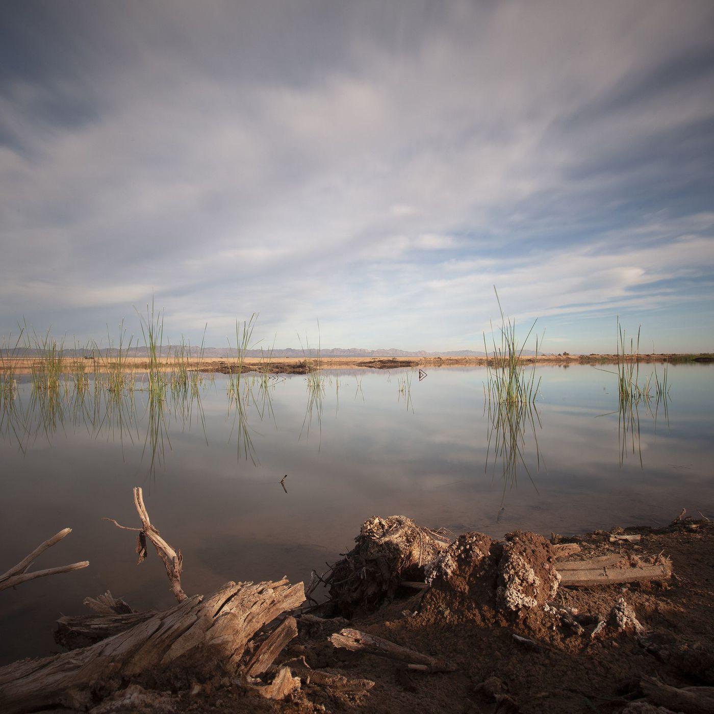 "Geoffrey Agrons' photograph,""Salton Sea II"" (2019) at Brooke Lanier Fine Art"