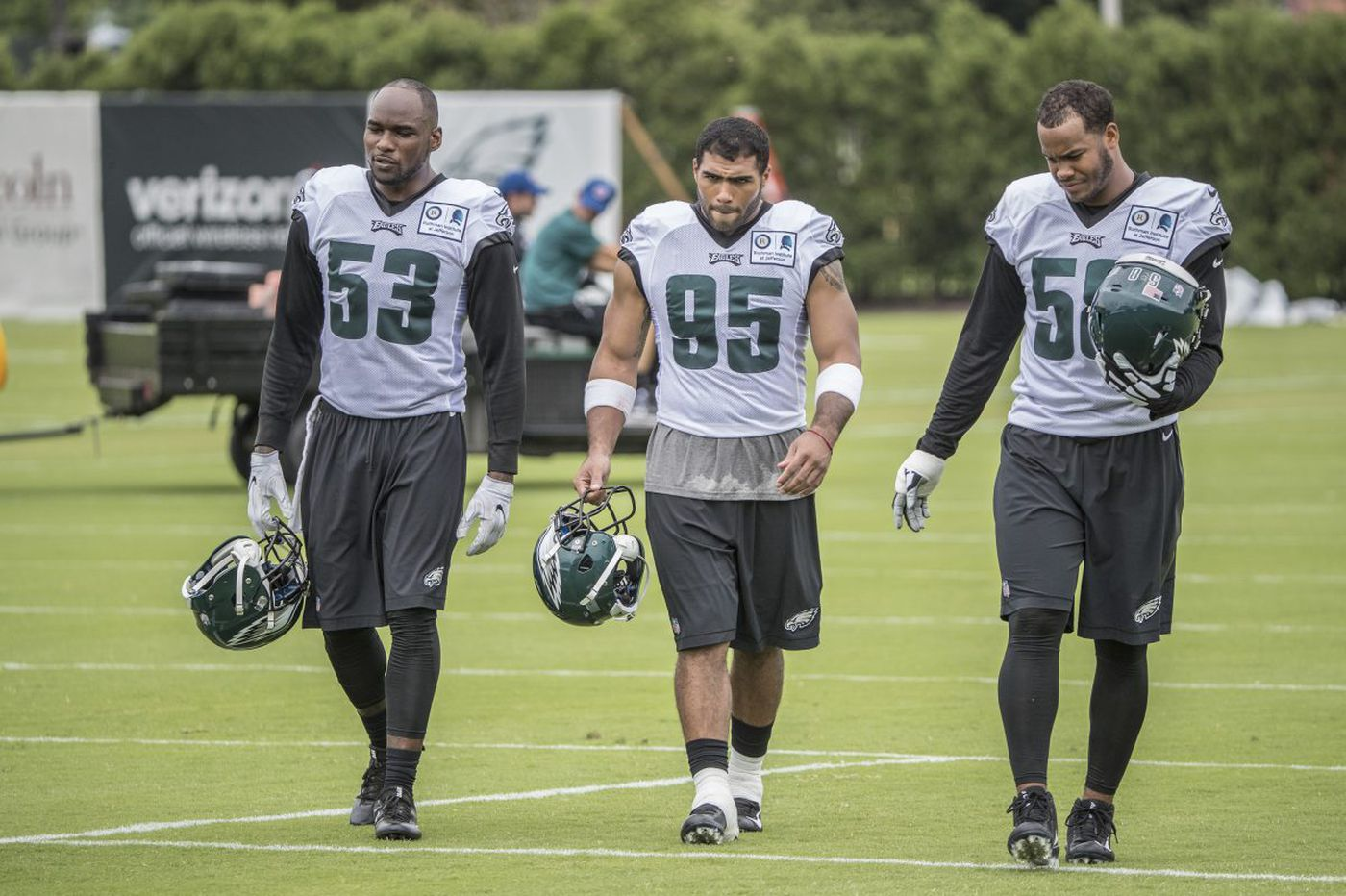 With LB Jordan Hicks out for the year, Nigel Bradham and Mychal Kendricks become the Eagles' key linebackers
