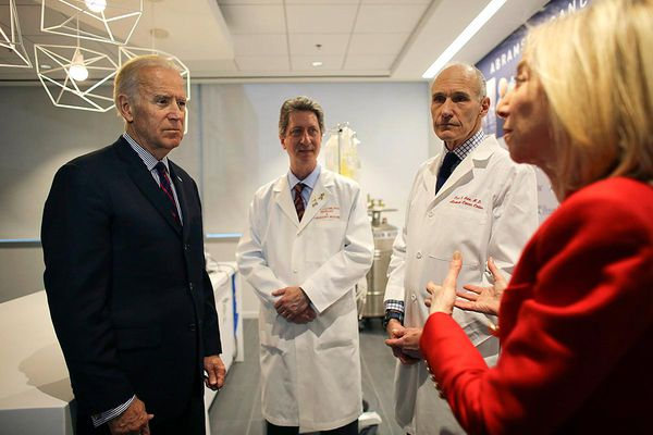 In visit with Penn scientists, Biden launches cancer 'moonshot'
