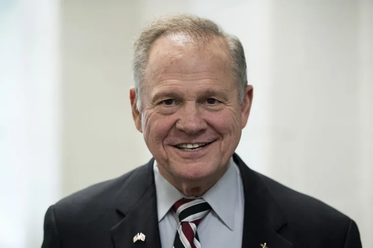 GOP Senate candidate Roy Moore at a forum in Valley, Ala., in August.