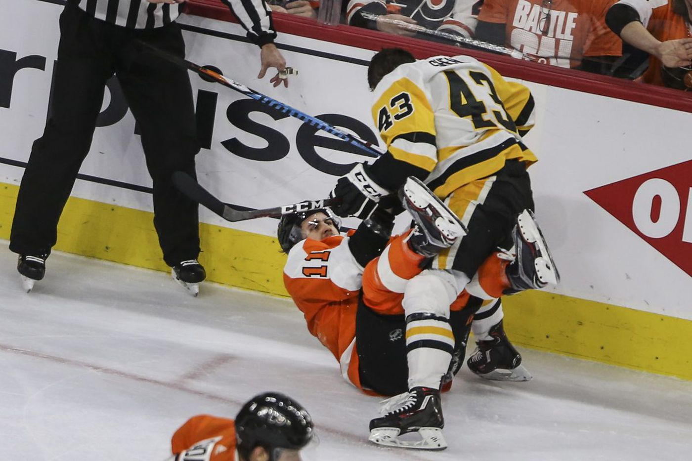 Flyers eliminated from NHL playoffs by Penguins despite Sean Couturier's heroics