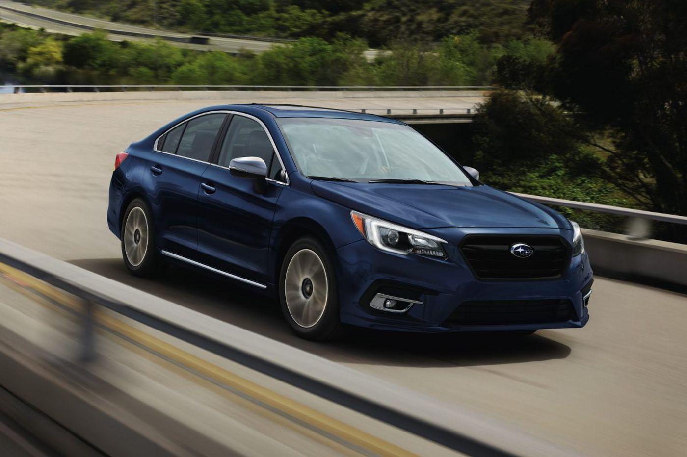 Subaru Legacy tackles a winter wonderland
