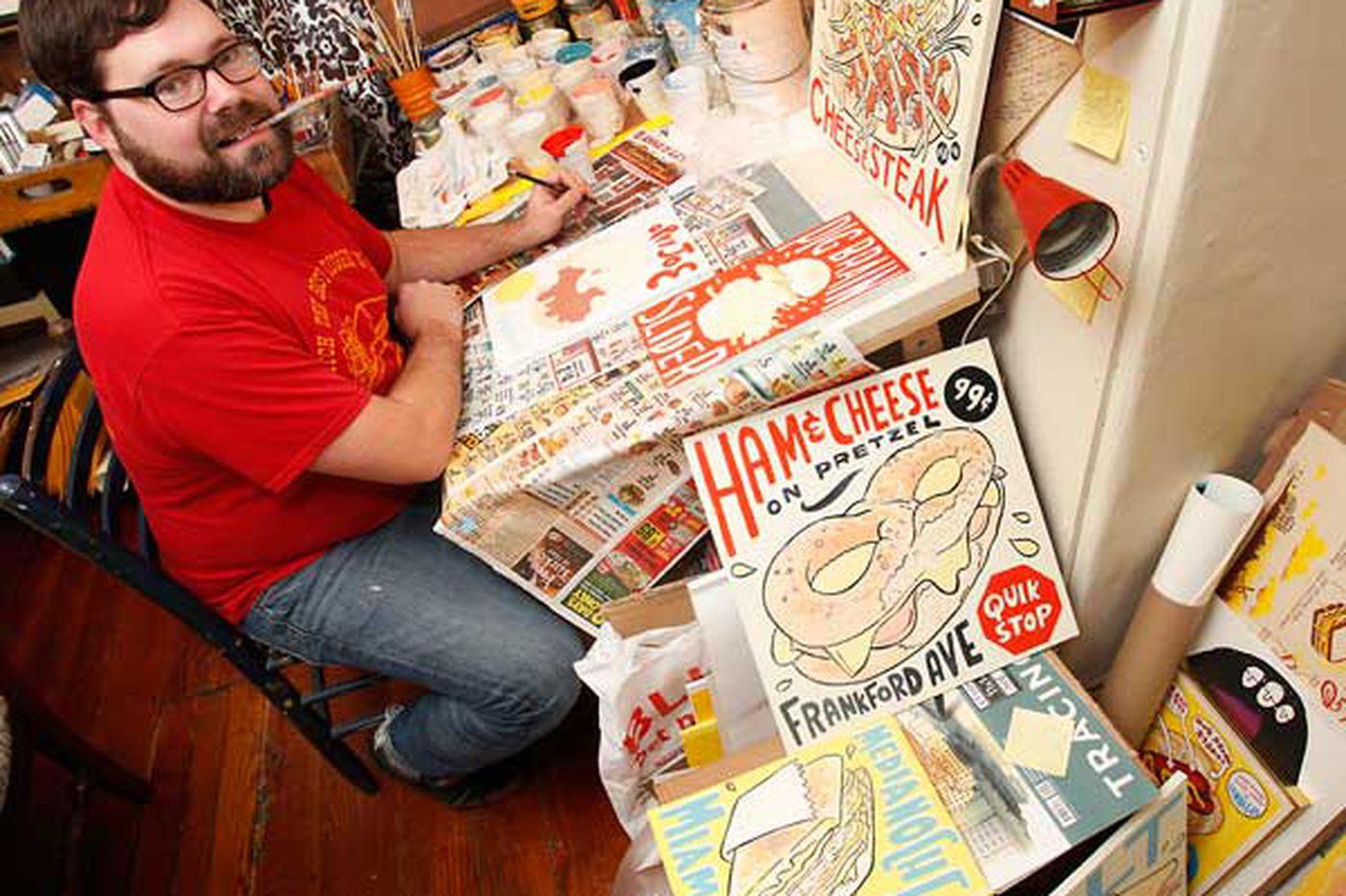 Hawk Krall debuts food art show at the American Sardine Bar