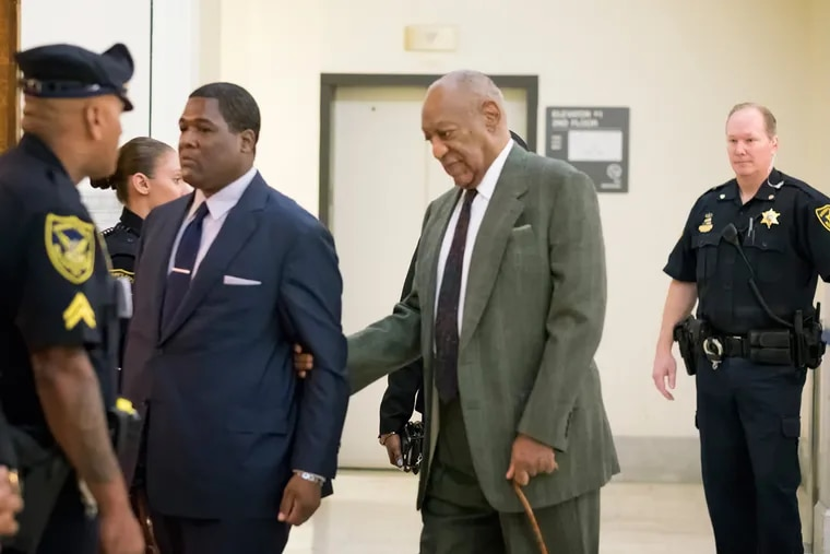 Bill Cosby enters the courtroom in Norristown in November.