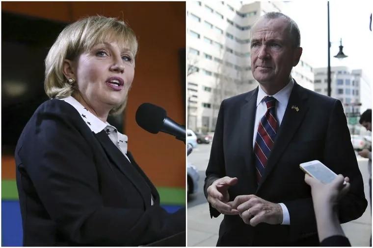 Republican gubernatorial nominee Kim Guadagno and Democratic nominee Phil Murphy.