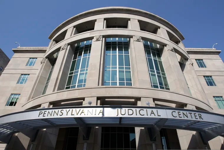 This July 27, 2009, file photo shows the Pennsylvania Judicial Center shortly after its completion in Harrisburg, Pa.