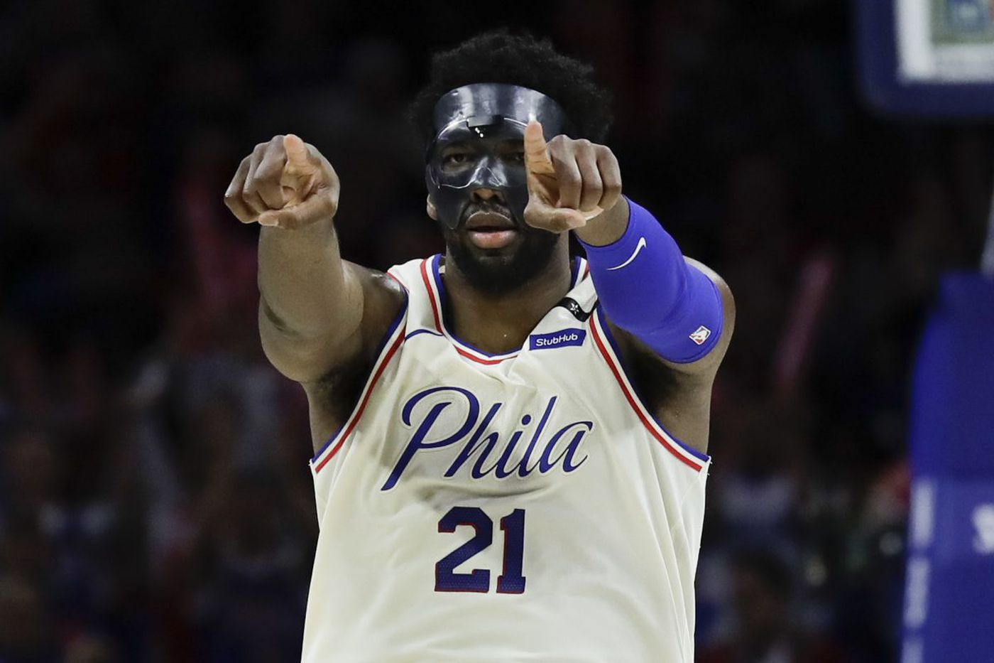 Sixers earn some time for Joel Embiid and his mask to catch up | Bob Ford