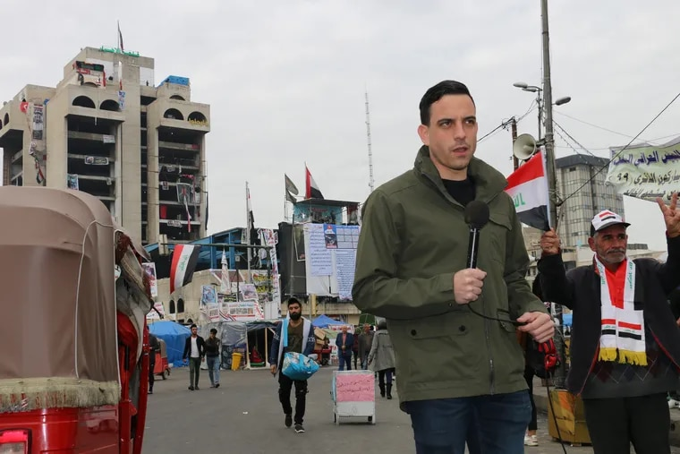 Fox News foreign correspondent and Hershey, Pa., native Trey Yingst is based in Jerusalem, but has been called upon to report live across the Middle East, including in Iraq.