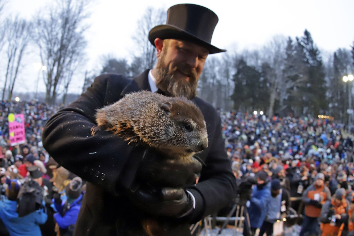 As Punxsutawney Phil predicts spring is near, winter is nowhere in sight, real forecasters say