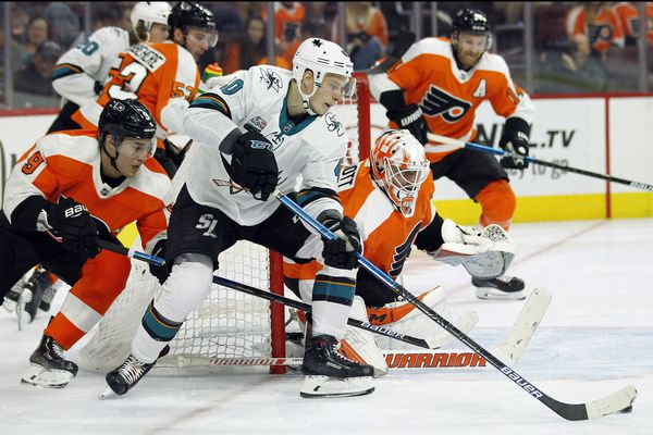 Flyers have a score to settle in San Jose; Cal Pickard getting the start