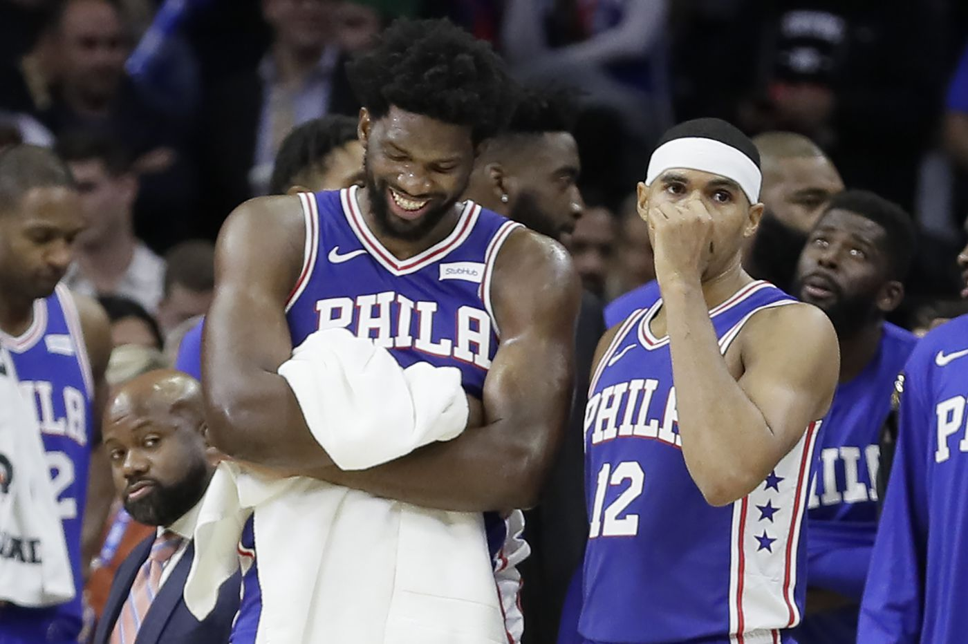 Sixers' Joel Embiid' Minnesota's Karl-Anthony Towns suspended two games each for brawl