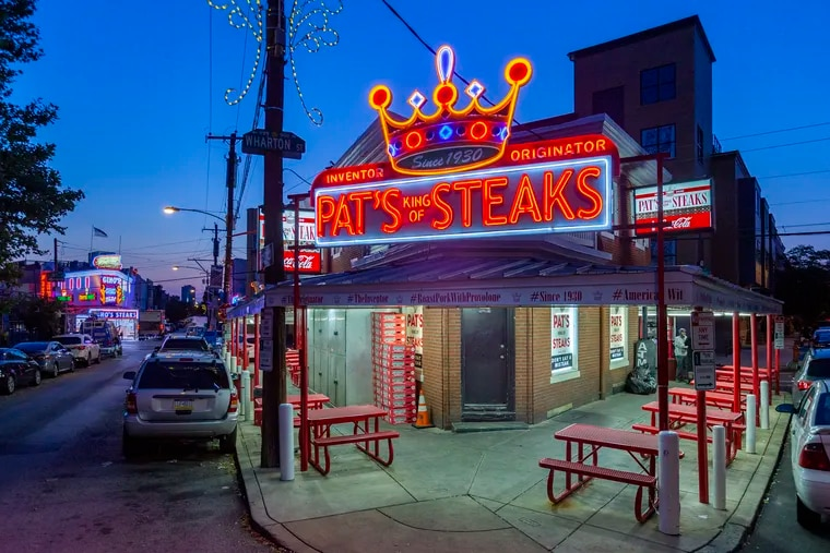 Pat's King of Steaks at South Ninth Street and Passyunk Avenue in Philadelphia on the morning of July 22. This was the scene of an early-morning fatal shooting that left David Padro Jr., 22, of Camden, dead.
