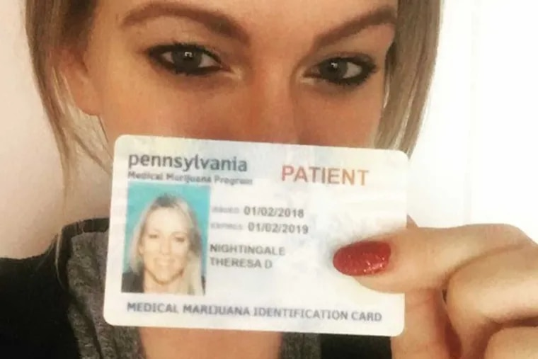 Theresa Nightingale, a medical marijuana activist in Pittsburgh, received her registration card two days before Christmas 2017.