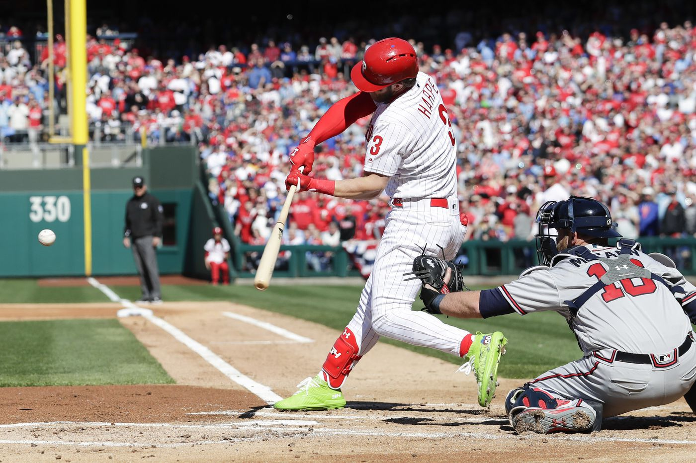 Bryce Harper wears Phillie Phanatic cleats on opening day