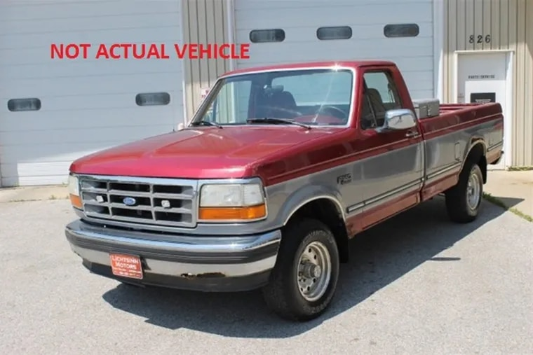 A Ford F-250 pickup truck like this one struck and killed an 18-year-old woman in Bucks County.