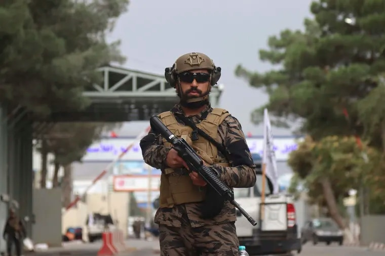 Taliban special forces fighters arrive inside the Hamid Karzai International Airport after the U.S. military's withdrawal, in Kabul, Afghanistan, on Tuesday.