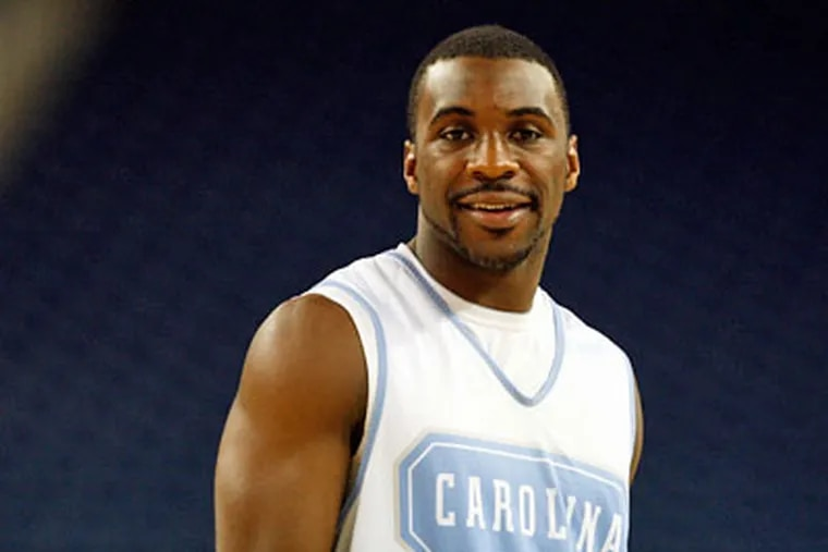 Former North Carolina point guard Ty Lawson said at the draft combine yesterday he wouldn't mind the style of play or location that Philadelphia offers. (File photo)