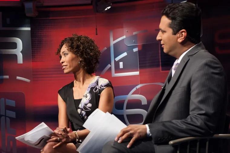 "ESPN ""SportsCenter"" anchor Sage Steele, seen here alongside Kevin Negandhi during her tenure on the 6 p.m. ""SportsCenter."""