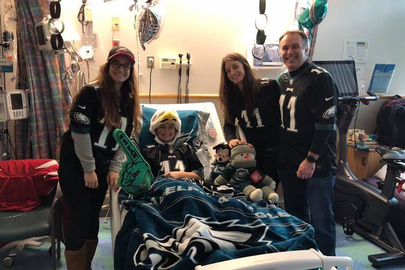 From a hospital bed, teen kept faith in her Eagles - and they cheered her on, too