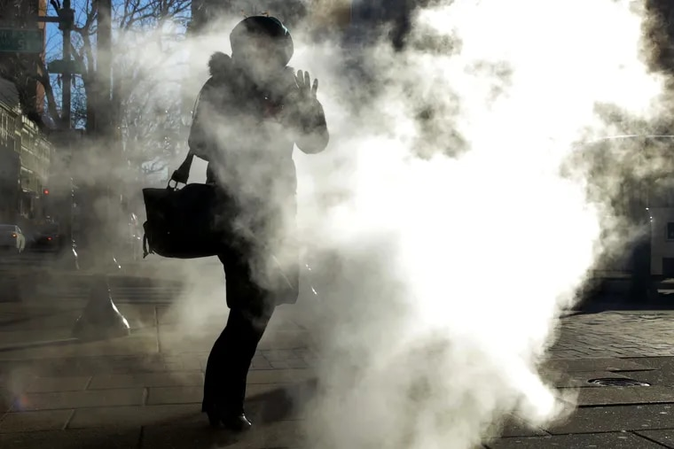 Cold weather in Philadelphia on Jan. 31.