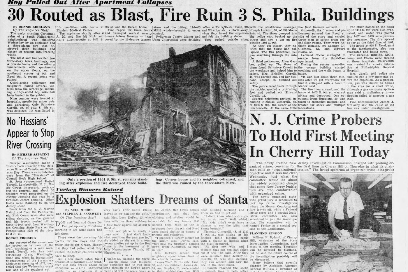 South Philly explosion scene eerily similar to one that happened a block away, 51 years ago