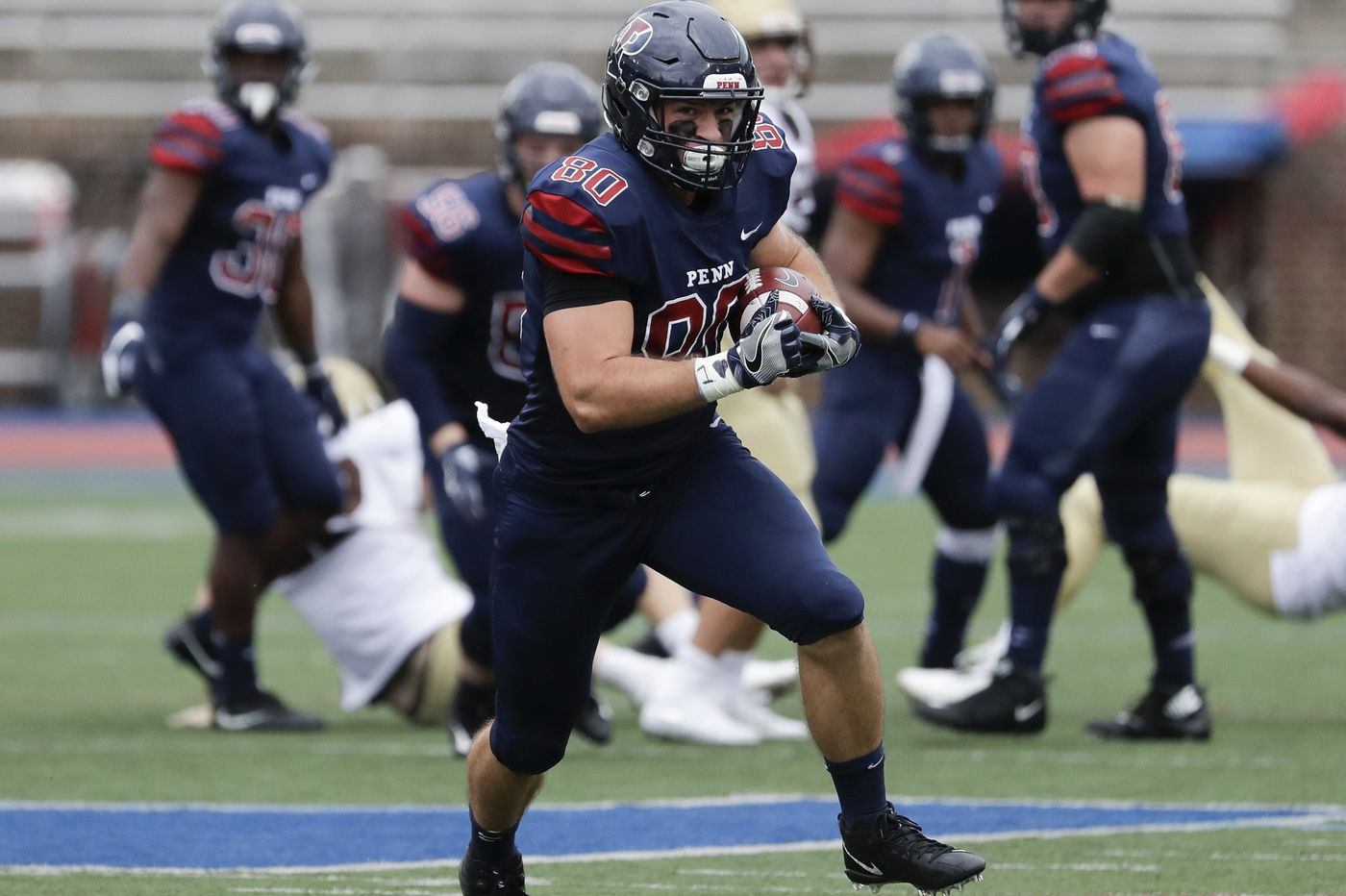Quakers' offense explodes after struggling early in rout of Lehigh 30-10
