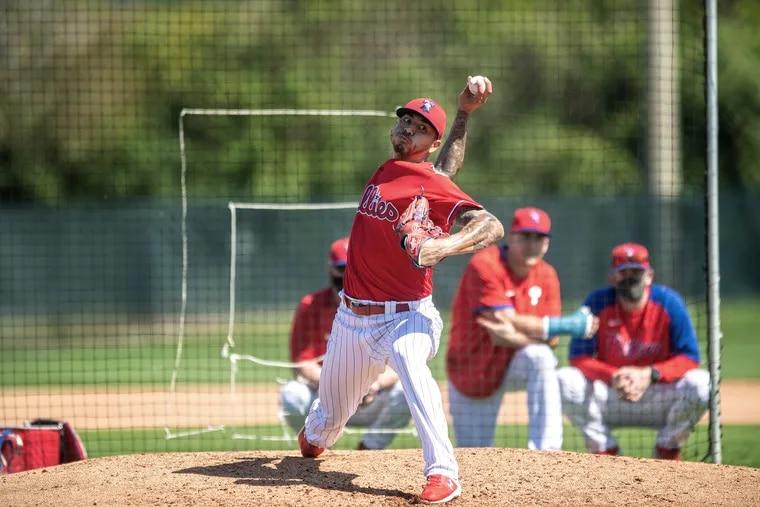 Phillies pitcher Vince Velasquez will open the season in the bullpen.
