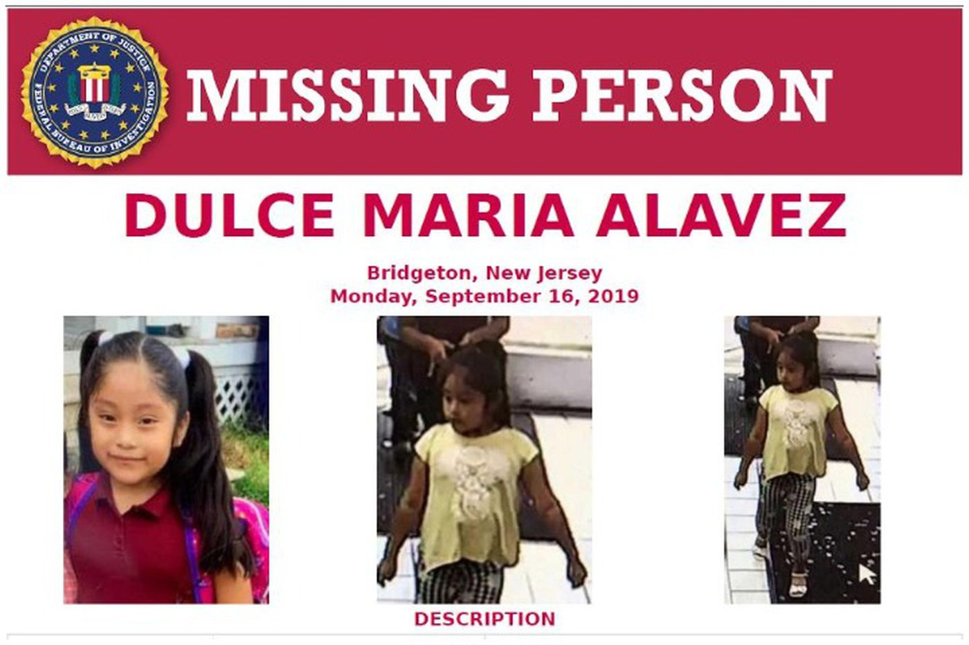 Dulce Maria Alavez joins 9 others from Philly area on FBI list of high-profile missing-person cases